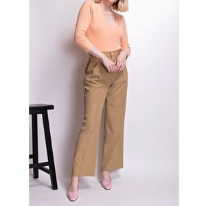 Vintage 80s tan high waist crop ankle trousers